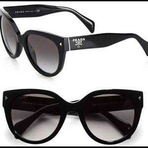 Prada black cat eye sunglasses